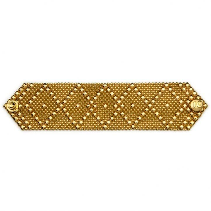 SG Liquid Metal Bracelet B10-G24K by Sergio Gutierrez