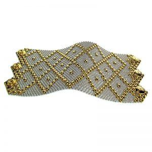 SG Liquid Metal Bracelet B11-SS-GOLD_01 by Sergio Gutierrez