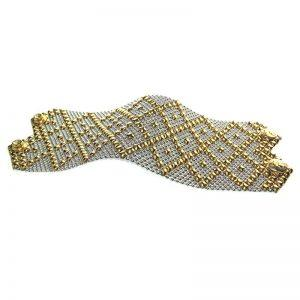 SG Liquid Metal Bracelet B26-SS-GOLD_01 by Sergio Gutierrez