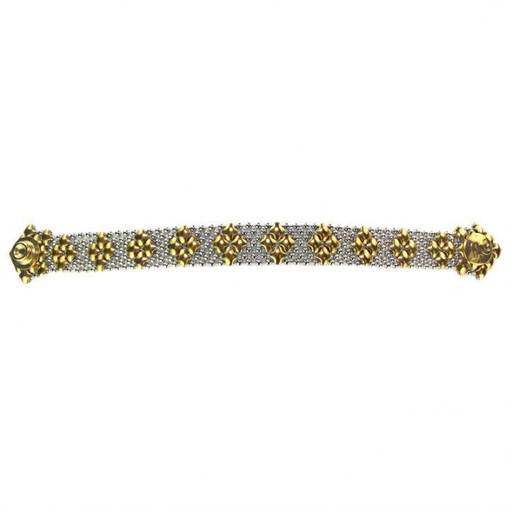 SG Liquid Metal Bracelet B35-SS-GOLD_01 by Sergio Gutierrez