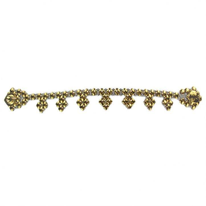 SG Liquid Metal Bracelet BK-SS-GOLD_01 by Sergio Gutierrez