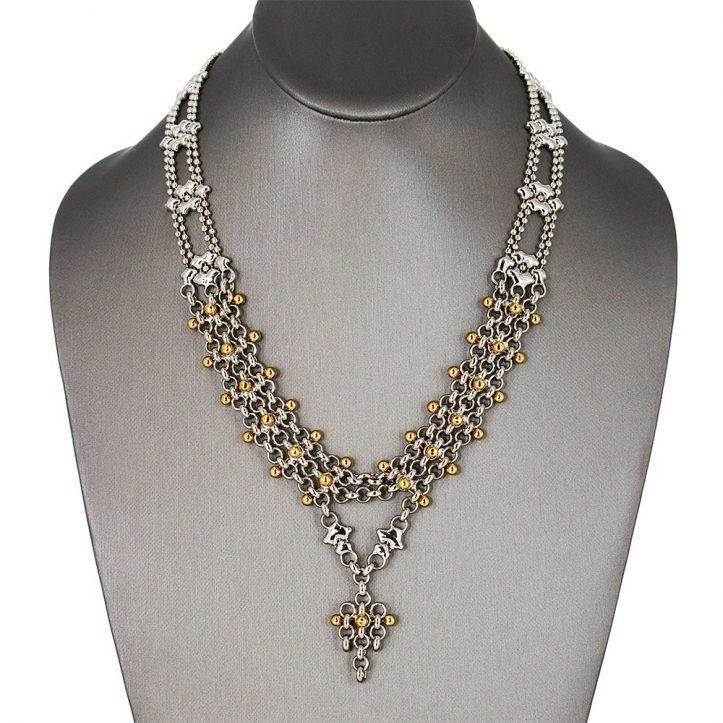 SG Liquid Metal Necklace BXN1-N by Sergio Gutierrez