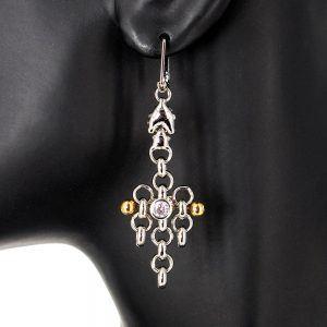 SG Liquid Metal Earrings BZE1Z-N by Sergio Gutierrez