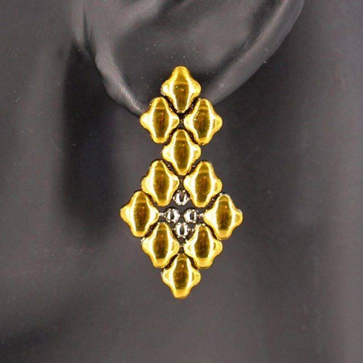 SG Liquid Metal Earrings E2-SS-GOLD_01 by Sergio Gutierrez