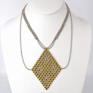 SG Liquid Metal Necklace N1-SS-GOLD_01 by Sergio Gutierrez