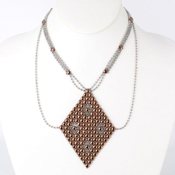SG Liquid Metal Necklace N1-SS-ROSE_01 by Sergio Gutierrez
