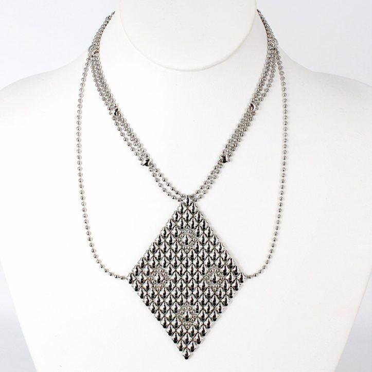 SG Liquid Metal Necklace N1-SS_01 by Sergio Gutierrez