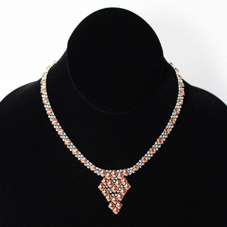 SG Liquid Metal Necklace NG-SS-ROSE_01 by Sergio Gutierrez