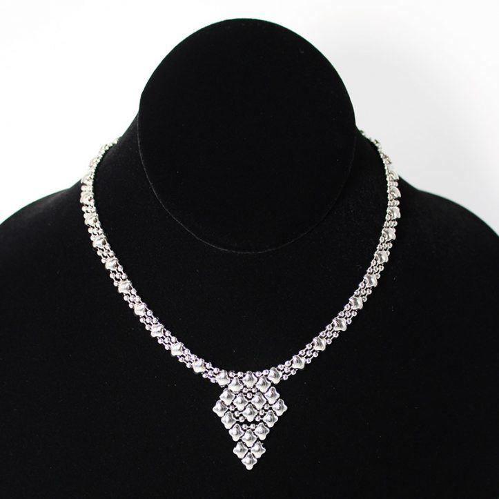 SG Liquid Metal Necklace NG-SS_01 by Sergio Gutierrez