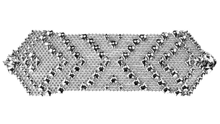 SG Liquid Metal Bracelet-b108 by Sergio Gutierrez