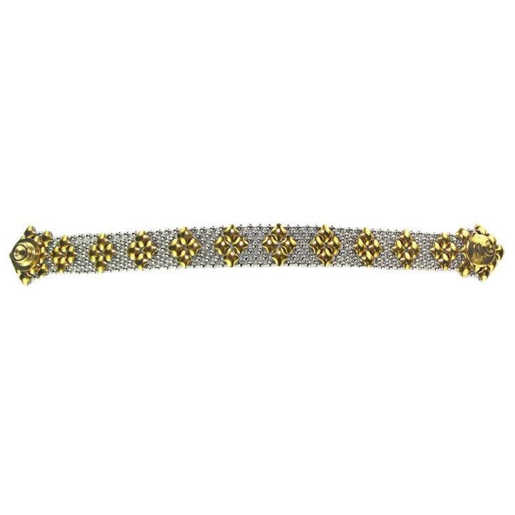 SG Liquid Metal Bracelet by Sergio Gutierrez B35-SS-GOLD_01