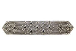 SG Liquid Metal Bracelet by Sergio Gutierrez -tb32-z-blk-n
