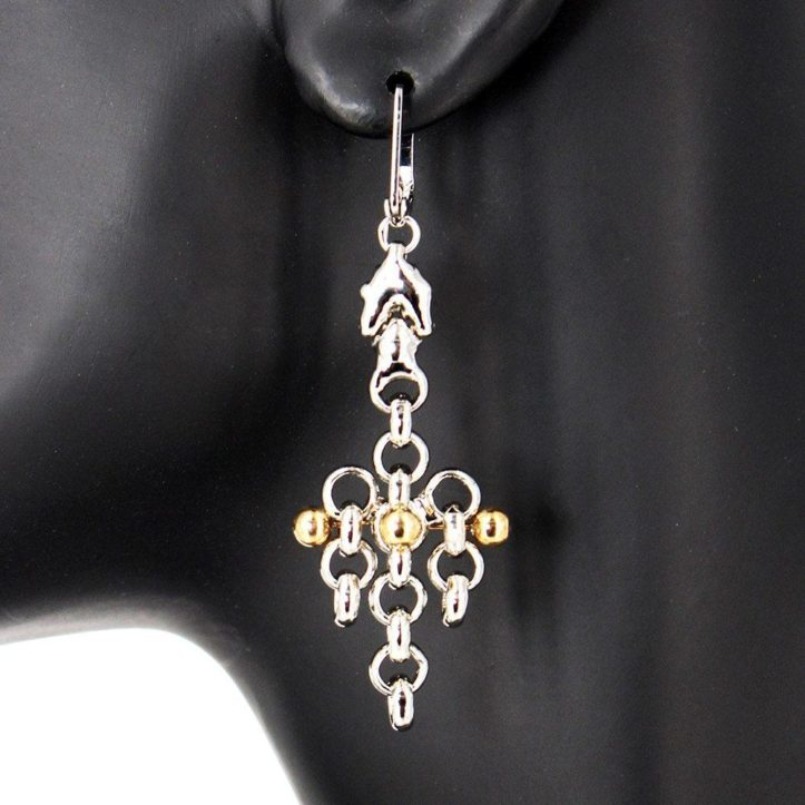 SG Liquid Metal Earrings by Sergio Gutierrez BXE1-N