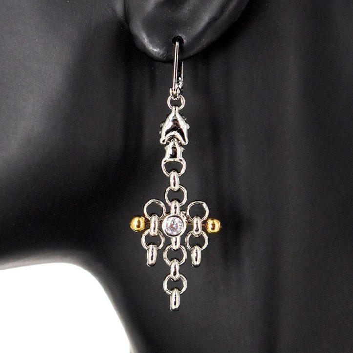 SG Liquid Metal Earrings by Sergio Gutierrez BZE1Z-N
