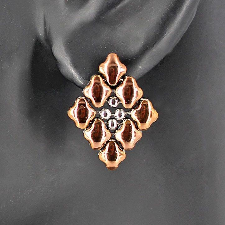 SG Liquid Metal Earrings by Sergio Gutierrez E11-SS-ROSE_01-1