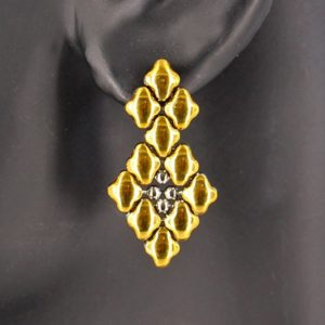 SG Liquid Metal Earrings by Sergio Gutierrez E2-SS-GOLD_01