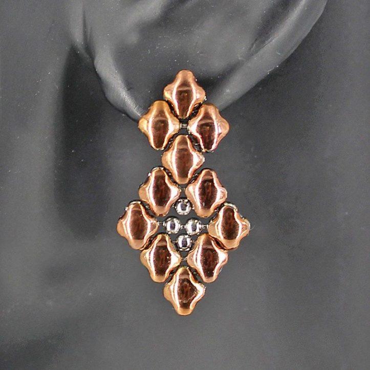 SG Liquid Metal Earrings by Sergio Gutierrez E2-SS-ROSE_01
