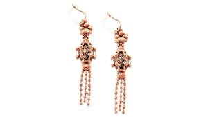SG Liquid Metal Earrings-rte5-rg by Sergio Gutierrez