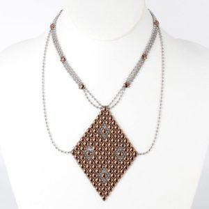 SG Liquid Metal Necklace by Sergio Gutierrez N1-SS-ROSE_01-1