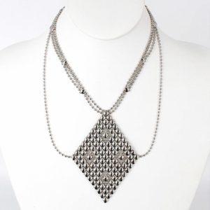 SG Liquid Metal Necklace by Sergio Gutierrez N1-SS_01-1