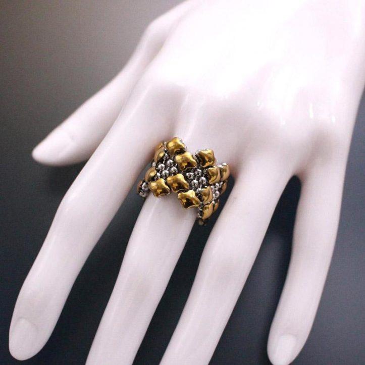 SG Liquid Metal Ring by Sergio Gutierrez R1-SS-GOLD-01