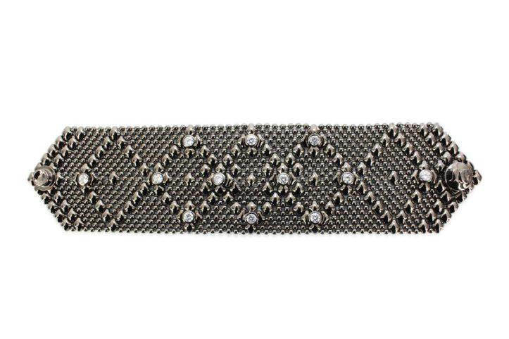 SG Liquid Metal bracelet-b10-z-blk by Sergio Gutierrez