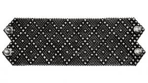 SG Liquid Metal bracelet-b26blk by Sergio Gutierrez