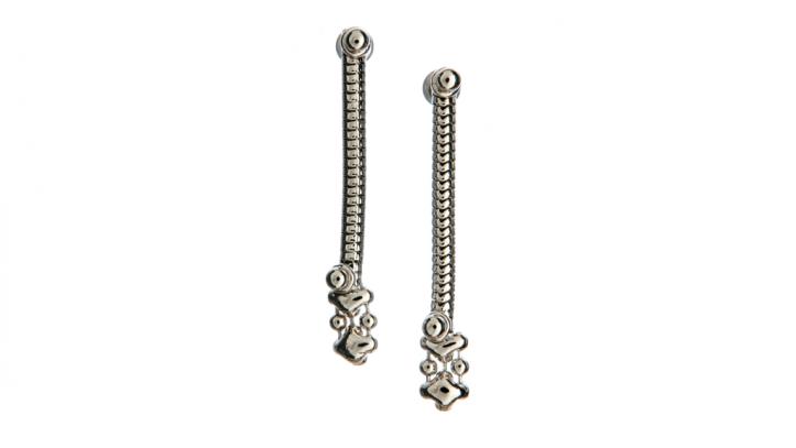 SG Liquid Metal earring-sne2 by Sergio Gutierrez