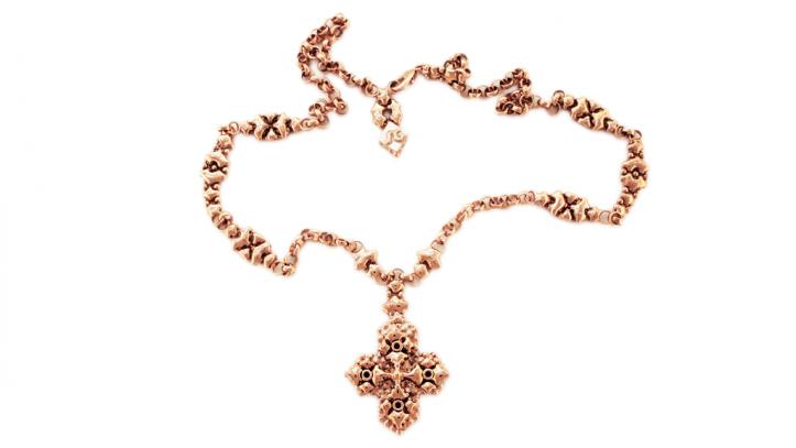 SG Liquid Metal necklace-ch3-rg by Sergio Gutierrez
