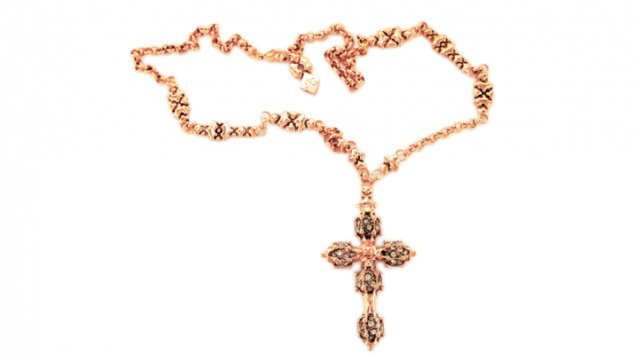 SG Liquid Metal necklace-rtcr2-rg by Sergio Gutierrez